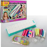 Набір для творчості MBK-291 браслети, станок, нитки 12 кольорів, резинки, кор., 38-28-6 см