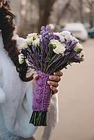 Букет невесты с вязаным дополнением