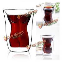 Кристаллические тела женщины рюмку водки вином Кубок стакан