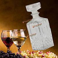 900мл квадратный бриллиант стекло Winebottle красного вина виски стеклянной бутылке