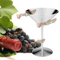 220мл нержавеющей стали коктейль Martini стеклянная чашка