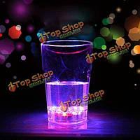 Большая восьмиугольная индуктивный LED вино виски стеклянная чашка бар клуба чашки напитка ночной свет чашки
