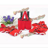 Красный нейлон Санта брюки конфеты мешки для Рождественский подарок
