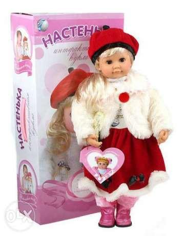 Интерактивная кукла Настенька MY 005 Joy Toy, 63х30х15,5 см