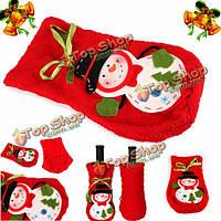 Рождественский снеговик мешок вина бутылка конфеты сумки украшения Xmas домой партии декоры