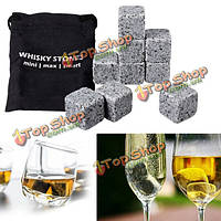 9шт виски льда камни гранит напитки холодные кубики скотч пород морозильник мешок