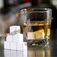 4шт керамические камни для виски кубик льда ледника виски леденящий пород
