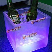 LED Ведро льда дважды RGB цвет слоя квадратный бар КТВ пиво ведро льда