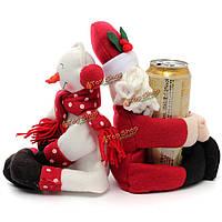 2шт Рождественский снеговик крышка Держатель Санта Clau бутылка вина столового напитка бутылку украшения