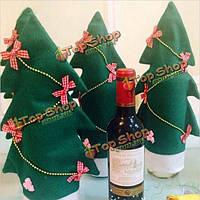 Рождественский подарок Санта-Рождественская елка форма бутылки наборы украшение стола