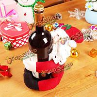 2шт рождественские винные поставки стола снеговика художественного оформления куклы бутылки Санта Клауса