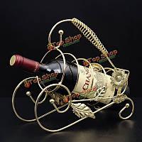 Ретро вино Champange держатель бутылки вина стойки Accessaries украшение дома
