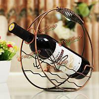 Ретро круглый бутылка вина Champange держатель стойки европейский стиль украшения дома