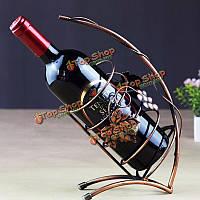 Металл вина держатель стойки шампанского показывая стенд вина шампанского стойку домашнего декора