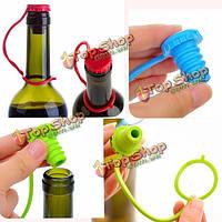 Антипотерянный стопор бутылки силикона свисающий винный штепсель кепки пива кнопки пробки
