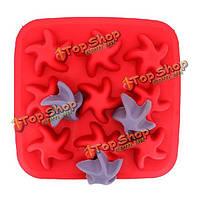 Морская звезда поднос кубика льда силикона желе шоколадный пудинг плесень