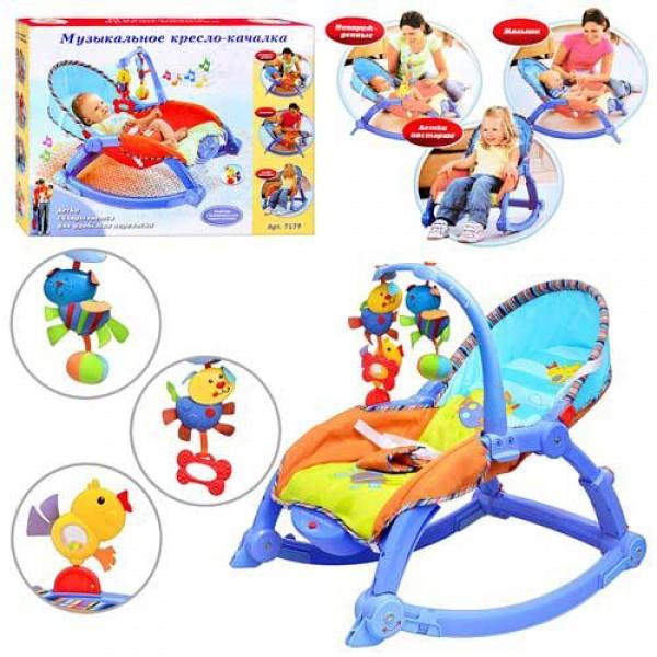 Детское музыкальное кресло-качалка (7179)