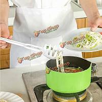 Творческий зазубренные макароны лапша ложка яйцо доказательство Ожоги горячей жидкостью принадлежности ложка совок кухонные