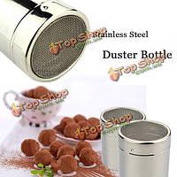 Нержавеющая сталь Мощность тряпкой бутылки какао порошок кофе приправы бутылки