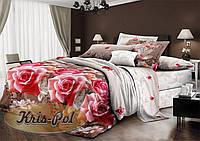 Комплект постельного белья 3D полуторный, ранфорс 100% хлопок. Постільна білизна 3Д. (арт.6014)