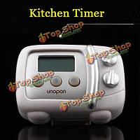 ЖК-цифровой кухонный Таймер духовка-форма отсчет времени приготовления Таймер