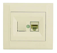 Розетка Makel Defne комп'ютерна+телефонна, біла (42001037)