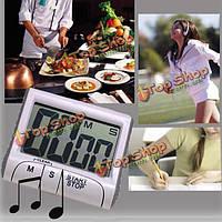 Магнитный цифровой большой кухонный таймер пищи приготовления пищи ЖК-кухня измерительные инструменты