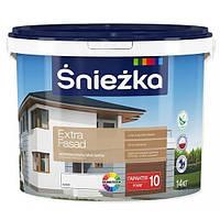 Краска водоэмульсионная фасадная Sniezka Extra  Fasad 14кг