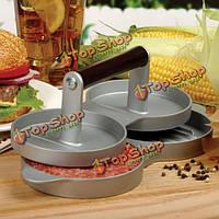 Алюминиевые двойной бургер нажмите гамбургер пирожки производитель мяса нажмите кухонные инструменты