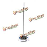 Нержавеющей пищевой зонд цифровой термометр кухни барбекю термометр