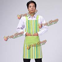 Кухня кулинария работа зеленой полосой холст фартуки для мужчин