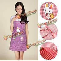 Кухня ресторана кулинария работа нагрудник кролика решетки карман мультфильм фартук платье