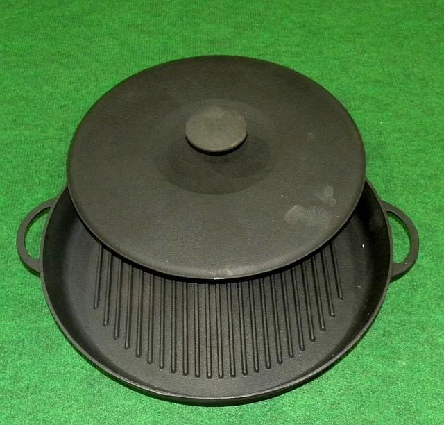 Сковорода гриль чугунная d 340мм «Ситон», фото 1