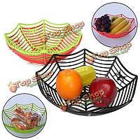 Пластик паутина фрукты конфеты корзина паутина чаша Halloween Party Декор