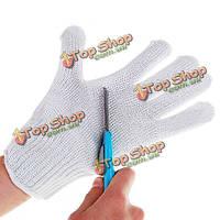 1 пара ножа вырезать стойкие защитные перчатки белые