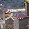"Крышка на забор бетонная Мегалит ""Черепица"" 440х440х158 мм, фото 2"