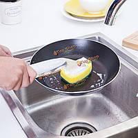 2шт автоматическая очистка Заправка моющее средство щетка кухня губкой для очистки скруббер