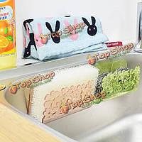 Цветы кухня раковина сторона губки полочные стеллажи полочные сливную стойку организатор хлопка ванны очиститель