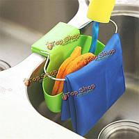 Раковина висит организатор сумка для хранения ситечко присоска держатель железное кольцо слива кран губка стойку