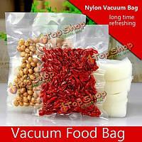 100шт ясный нейлон вакуум еда мешок мешок упаковки пищевых продуктов