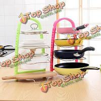 Многофункциональная многослойная горшок инструмент полки держатель кастрюли крышка подставка подставка для хранения кухня
