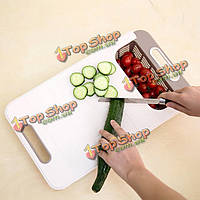 Творческий 2 в 1 пластиковые фрукты овощи кухонные инструменты разделочная доска антибактериальную плаху