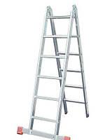 Шарнирная двухсекционная лестница KRAUSE TriMatic 2x6 ст. Hmax - 3.6м