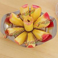 Нержавеющая сталь яблока пробоотборник slicer резак фруктов нож
