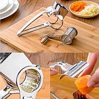 Из нержавеющей стали роторный сыр шоколад терке 3 барабанов ломтик лоскуток кухонный инструмент