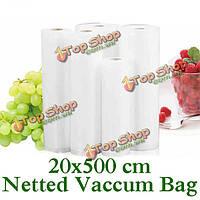 Утолщенной 20x500 сетчатой ??еды вакуумный мешок еды vegetabel фруктов мяса свежего вакуума мешок запечатывания