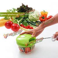 Овощной кормоизмельчитель вручает быстрый вегетерианский резак ножа шинковки вертолета мяса