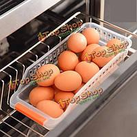 Пластиковые хранения холодильник ящик ящик полым еда организатор фрукты овощи напитки кухня