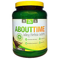 About Time, Whey Protein Isolate, Vanilla, 2 lbs (908 g)