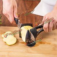 Многофункциональный карманный помидоры круглый резки фруктов овощей резки инструмент кухни